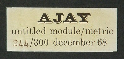 Abe Ajay Module Metric plastic sculpture label
