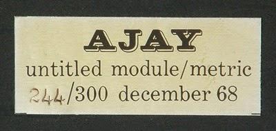 Abe Ajay Module Metric plastic sculpture label