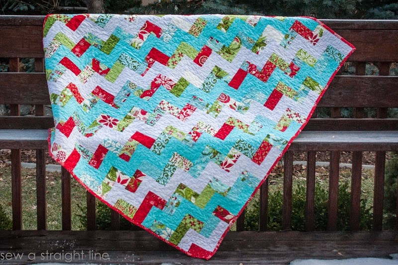 moda 12 days of Christmas quilt step in time sew a straight line-3