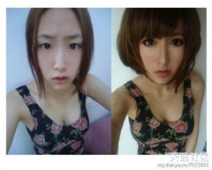chinese girls makeup before and after  (27)