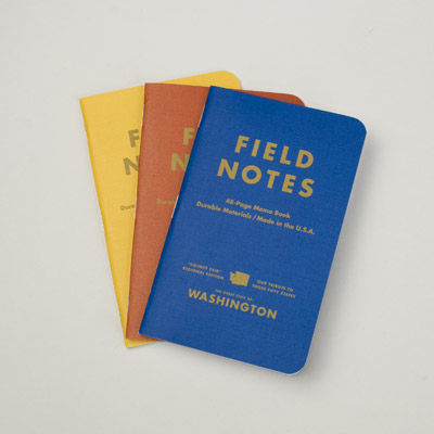 These State-Fair edition field notebooks feature different facts and trivia. They are a cute accessory for sketching, writing, and drafting. Little items like these remind me of camp.(canoeonline.com)