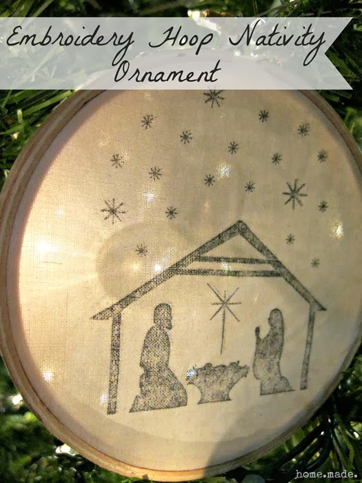 Embroidery Hoop Nativity Ornament