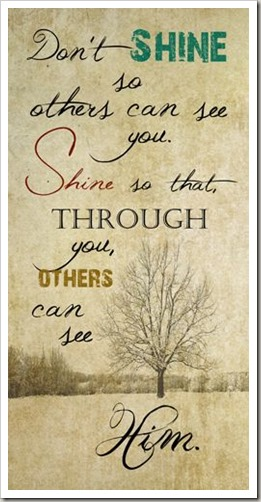 CS Lewis - Let God Shine through you