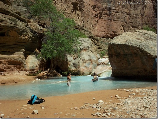 07 Playing in the pools of Havasu Creek Colorado River trip AZ (1024x768)