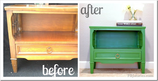 before and after end table redo