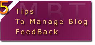 tips to manage blog feedback