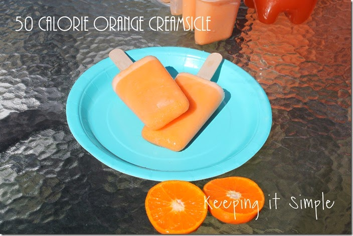 low-calorie-summer-treats #flavorforless orange-creamsicle