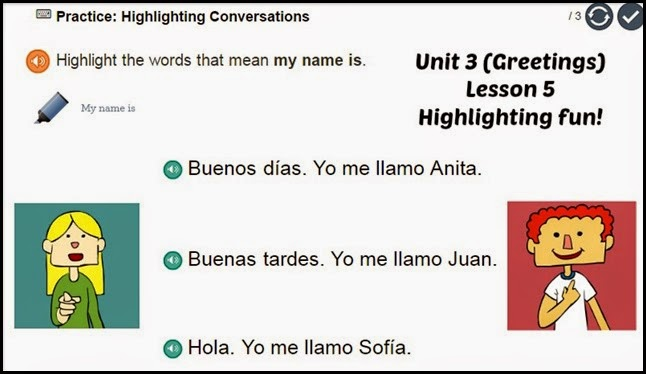Spanish highlighting