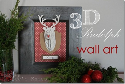 3d rudolph wall art - just the bee's knees _thumb[5]