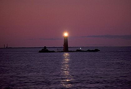 lighthouse dusk