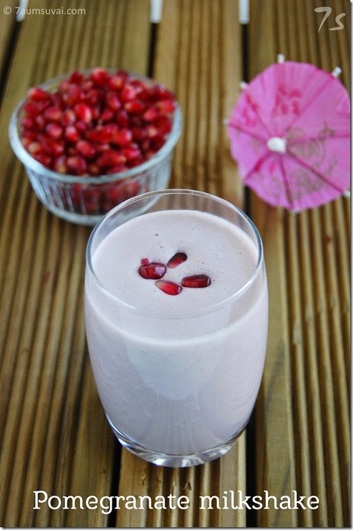Pomegranate almond milkshake