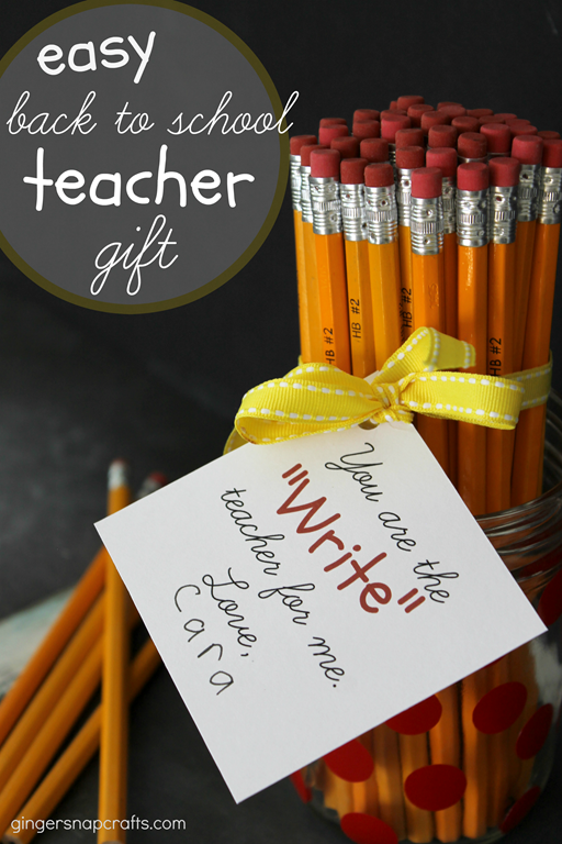 Easy Back to School Teacher Gift at GingerSnapCrafts.com #SilhouettePortrait #SilhouetteCAMEO #printable