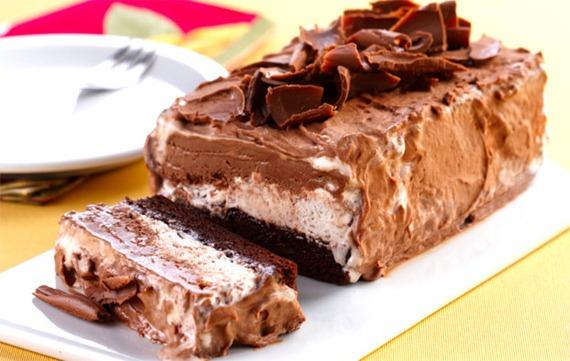 Gelado de brownie