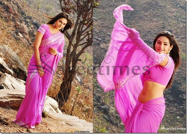 Ragini_Dwivedi_Pink_Saree