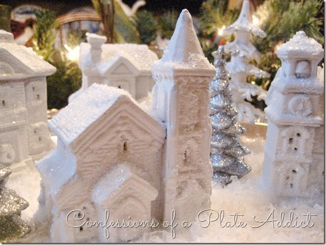 CONFESSIONS OF A PLATE ADDICT DIY Dollar Tree Snow Village 4