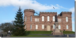inverness castle and tree