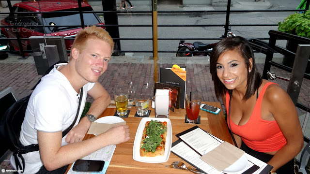 meeting up with my friend Natalie for dinner in Vancouver in Vancouver, British Columbia, Canada