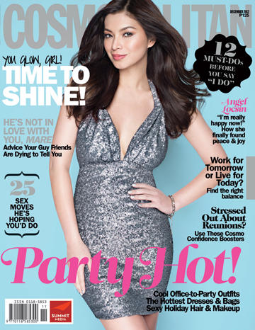 Angel Locsin covers Cosmo Ph Dec 2012