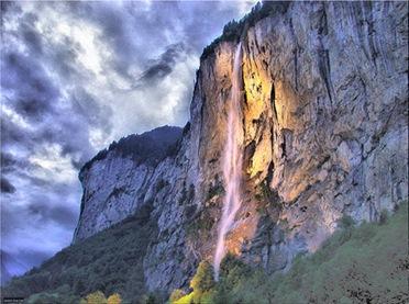 Lauterbrunnen waterfall