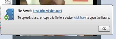 save trim video