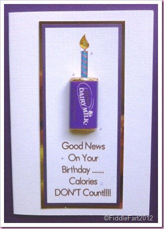 Chocolate Birthday card Cadbury's miniatures