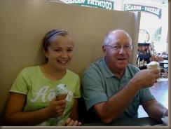 Em and Grandpa ice cream