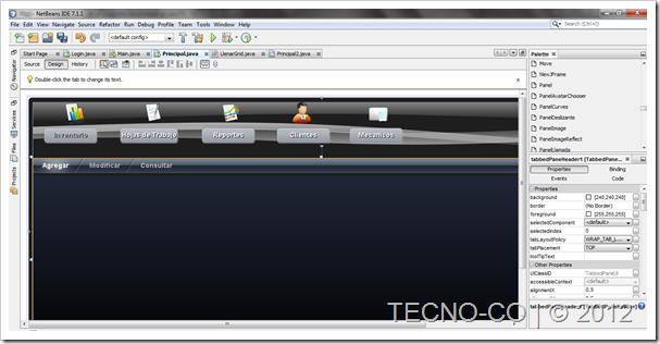 Programa hecho en java netbeans hojas de trabajo