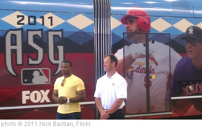 'Justin Upton and Luis Gonzalez introducing @dbacks wrap of @metrorail train' photo (c) 2011, Nick Bastian - license: http://creativecommons.org/licenses/by-nd/2.0/