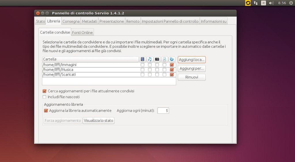 Serviio in Ubuntu