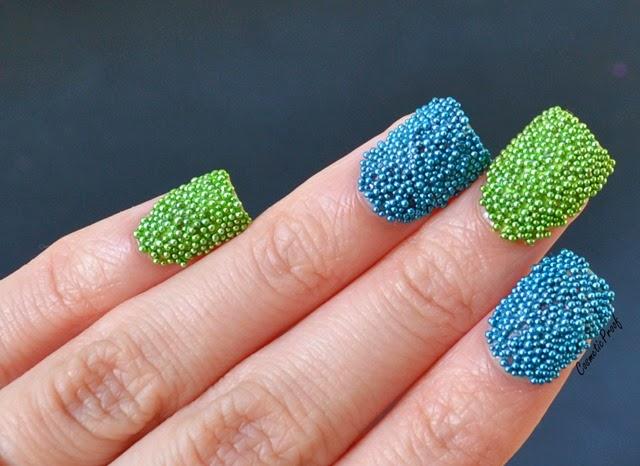 fish egg microbead manicure