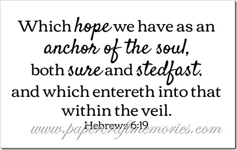Hebrews 6:19 WORDart by Karen for personal use