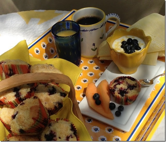 blueberry breakfast tray