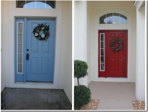 front door before and after