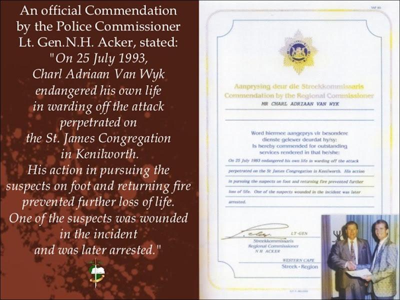 StJamesChurchMassacreCHARLVANWYKRECOMMENDATIONKenilthworthCapeTown25July1993