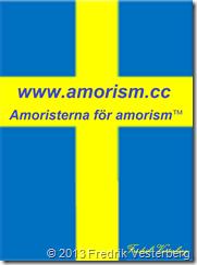 Sveriges flagga av Fredrik Vesterberg den 120316, förstorad och signatur tillagd och amorism