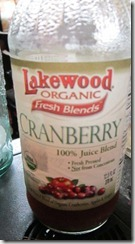 lakewood organics cranberry juice, 240baon