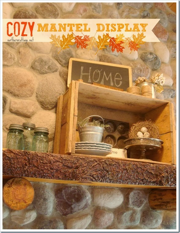 {Northern Cottage} cozy mantel