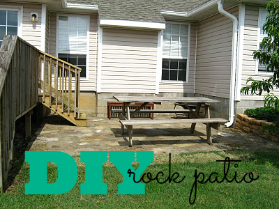 DIY rock patio
