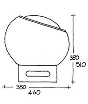 Clan table lamp with PVC base schematic