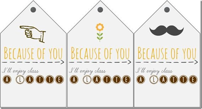 Free Teacher Coffee Gift Tag Printables