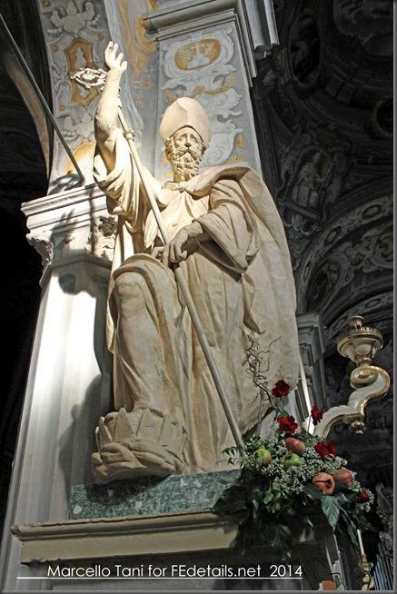 Statua di San Maurelio nella Basilica di San Giorgio, Ferrara - Statue of St. Maurelio in St. George Cathedral, Ferrara, Italy Photo of Marcello Tani