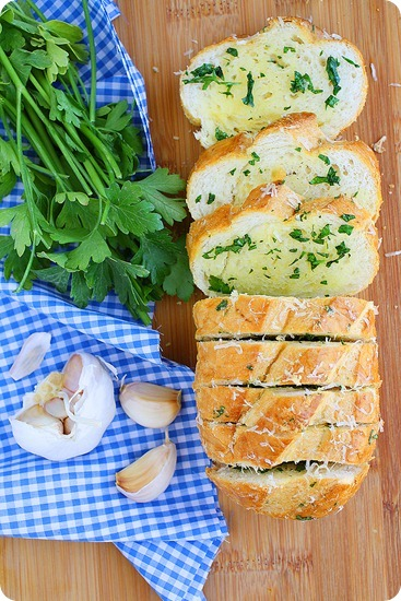 Parmesan Herb Garlic Bread Recipe