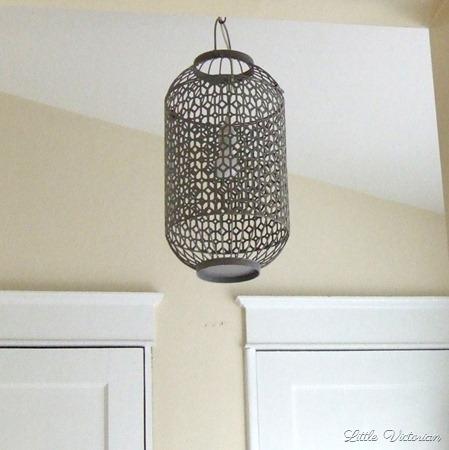 DIY Bird cage light fixture
