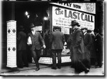 "Citizens of Detroit heeding a ""last call"" in the final days before Prohibition went into effect, 1920. Credit: Walter P. Reuther Library, Wayne State University."