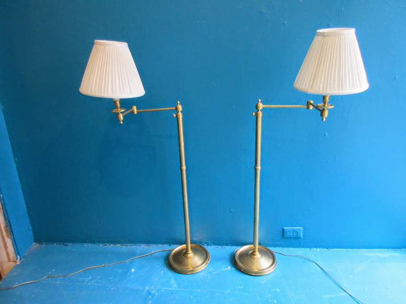 Brass Lamp Pair