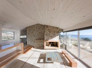 casa de playa de madera en chile