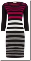 Striped Knit Jumper Dress