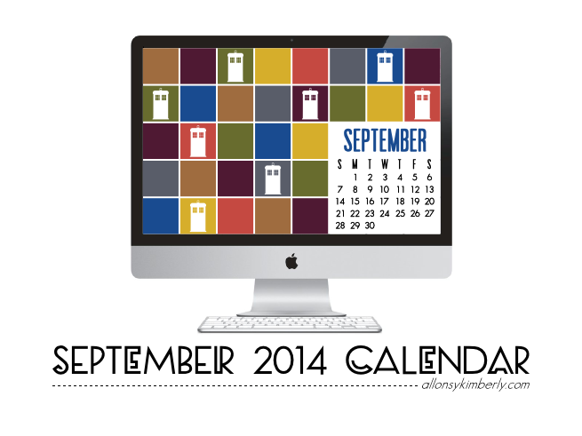 September 2014 Desktop Calendar Wallpaper (Free Download) | allonsykimberly.com