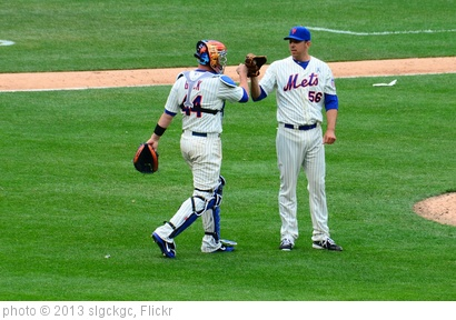 'John Buck and Scott Rice after Mets Opening Day Victory' photo (c) 2013, slgckgc - license: http://creativecommons.org/licenses/by/2.0/