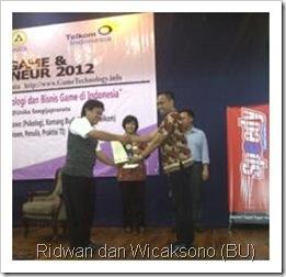 Ridwan Sanjaya (GameTech Unika) dan Wicaksono (BU)